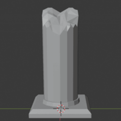 Download free STL Large Ruined Stone Pillar , LordInvoker