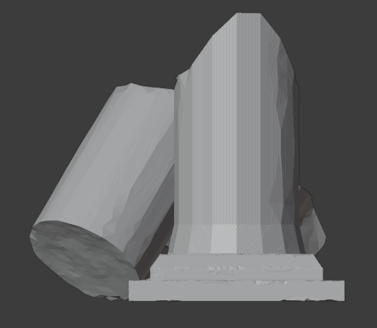 Ruined Pillar-003.png Download free STL file Collapsed Pillar ( Ruined Column ) • Design to 3D print, LordInvoker