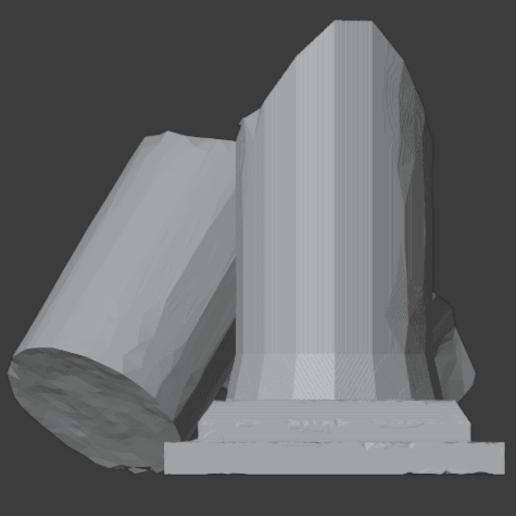 Ruined Pillar-003.png Télécharger fichier STL gratuit Pilier effondré (colonne en ruine) • Plan imprimable en 3D, LordInvoker