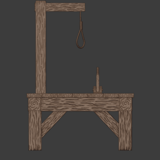 Gallows-004.png Download free STL file The Gallows • 3D print template, LordInvoker