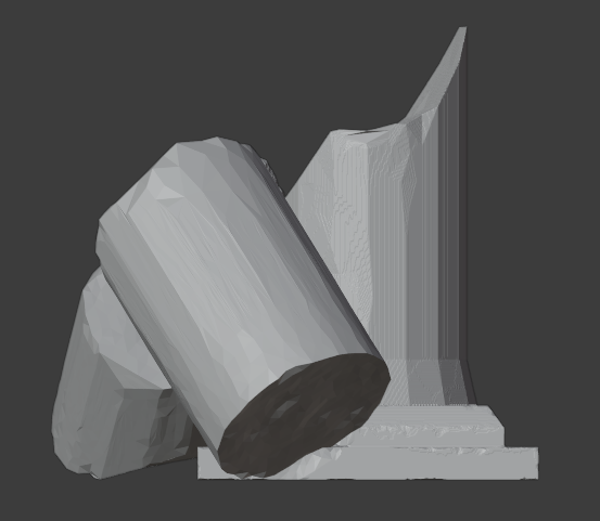 Ruined Pillar-005.png Download free STL file Collapsed Pillar ( Ruined Column ) • Design to 3D print, LordInvoker