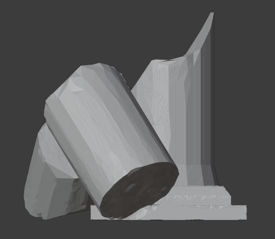 Ruined Pillar-005.png Télécharger fichier STL gratuit Pilier effondré (colonne en ruine) • Plan imprimable en 3D, LordInvoker
