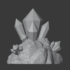Crystal_Cluster_01.png Download free STL file Crystal Formations (Cluster 1) • 3D print model, LordInvoker