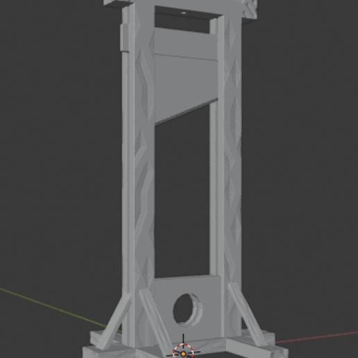 Guillotine-03.png Télécharger fichier STL gratuit Guillotine médiévale • Design imprimable en 3D, LordInvoker