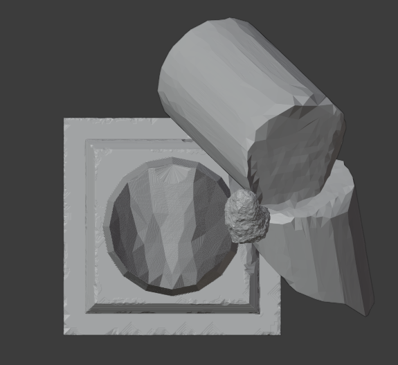 Ruined Pillar-002.png Download free STL file Collapsed Pillar ( Ruined Column ) • Design to 3D print, LordInvoker