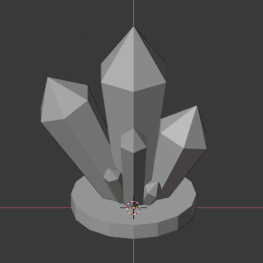 Crystal-Formations-006.png Download free STL file Crystal Formations Alt2 • Object to 3D print, LordInvoker
