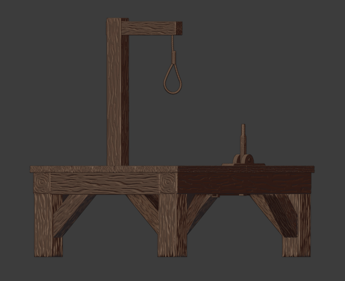Gallows-003.png Download free STL file The Gallows • 3D print template, LordInvoker