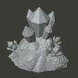 Download free STL file Crystal Formations (Cluster 1) • 3D print model, LordInvoker
