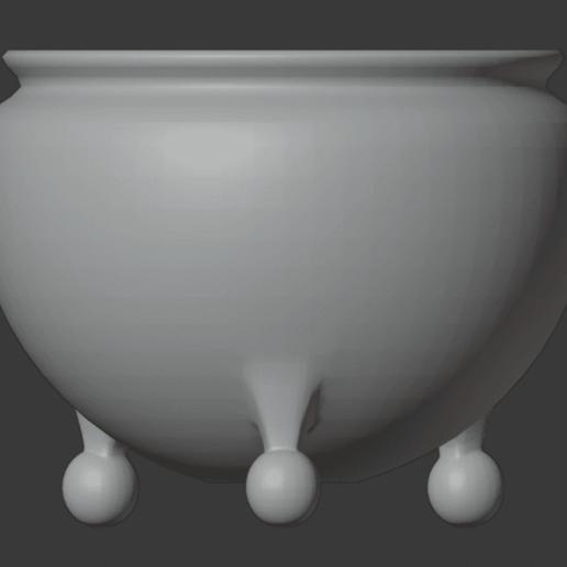 Brazier-02.png Télécharger fichier STL gratuit Brasero (Pieds de balles) • Modèle pour impression 3D, LordInvoker