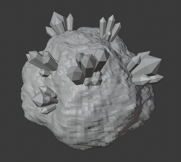 Crystal_Cluster_05.png Download free STL file Crystal Formations (Cluster 2) • 3D printer model, LordInvoker