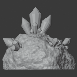 Download free 3D printer files Crystal Formations (Cluster 3), LordInvoker