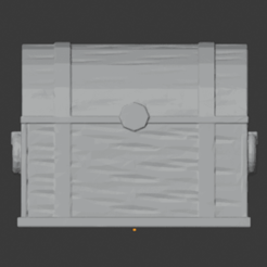 Download free 3D printer templates Banded Wooden Chest, LordInvoker