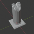 Download free STL Large Ruined Stone Pillar , LordInvoker