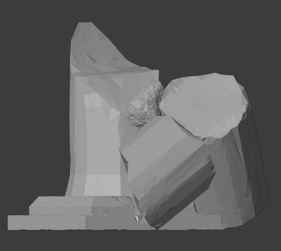 Ruined Pillar-001.png Download free STL file Collapsed Pillar ( Ruined Column ) • Design to 3D print, LordInvoker