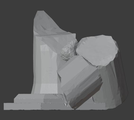 Ruined Pillar-001.png Télécharger fichier STL gratuit Pilier effondré (colonne en ruine) • Plan imprimable en 3D, LordInvoker