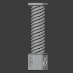 Pillars-001.png Download free STL file Fantasy Style Pillar Spiral Column (28mm Scale) • 3D printable template, LordInvoker