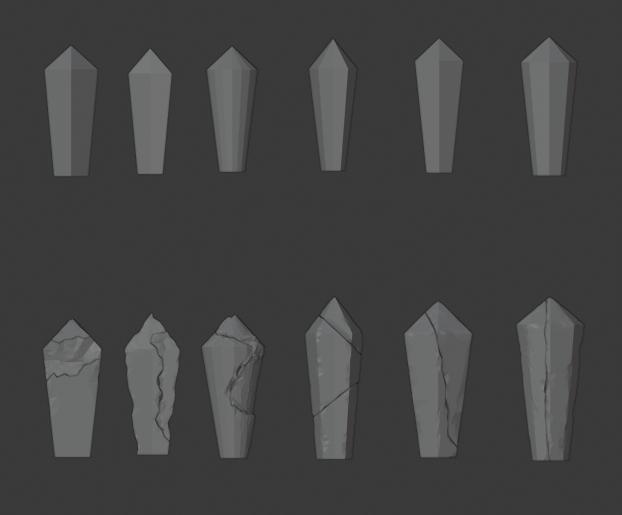 Crystal-01.png Télécharger fichier STL gratuit Paquet de cristal endommagé • Objet à imprimer en 3D, LordInvoker