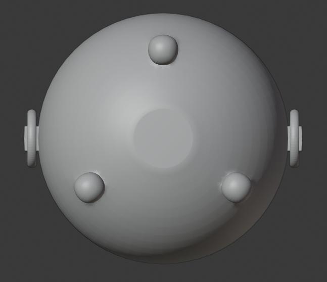 Brazier-07.png Télécharger fichier STL gratuit Brasero (Pieds de balles) • Modèle pour impression 3D, LordInvoker