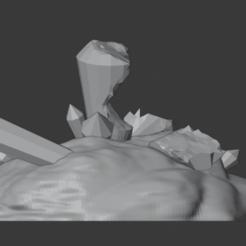 Crystal_Cluster_01.png Download free STL file Crystal Formations (Cluster 5 - Damaged) • 3D printable design, LordInvoker