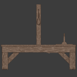 Gallows-001.png Download free STL file The Gallows • 3D print template, LordInvoker