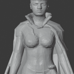 FemaleWizard-01.png Download STL file Human Female Wizard • 3D print model, LordInvoker