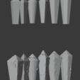 Crystal-03.png Télécharger fichier STL gratuit Paquet de cristal endommagé • Objet à imprimer en 3D, LordInvoker