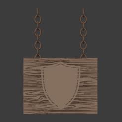 ShieldSign-001.png Download free STL file Shield Building Sign • 3D print model, LordInvoker