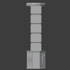 Pillars-001.png Download free STL file Dwarven Style Pillar Square Column (28mm Scale) • 3D print model, LordInvoker