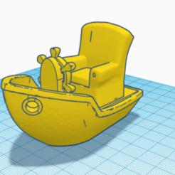 Benchy Chair 0.PNG Download free STL file Benchy Chair • 3D print model, dewaldcon