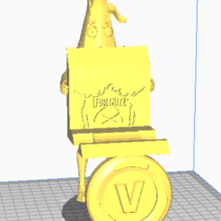 Fortnite Remote stand 3.PNG Download STL file Fortnite Xbox/ play station remote stand • 3D print design, dewaldcon