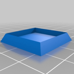 Download free 3D printing designs WBattle: Square Base adaptator. 20 to 25mm, Darky