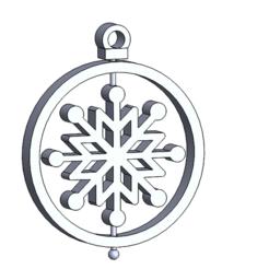 esfera copo.PNG Télécharger fichier STL Décoration de Noël : Flocon de neige • Plan à imprimer en 3D, HDGil