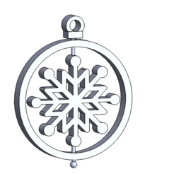 esfera copo.PNG Download STL file Christmas decoration: Snowflake • 3D printer design, HDGil
