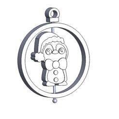 esfera pinguino bufanda.PNG Download STL file Christmas Ornament: Penguin Scarf • 3D printable template, dangilmz93