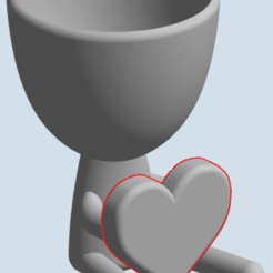 heartpot.png Download STL file Heartpot, pot with heart • Template to 3D print, HDGil