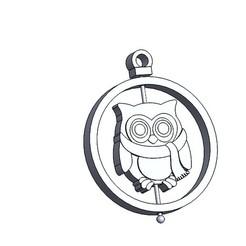 Buho 1.JPG Download STL file Christmas decoration: Owl • Template to 3D print, dangilmz93
