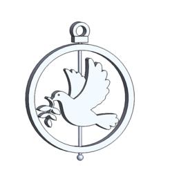 esfera paloma.PNG Download STL file Christmas decoration: Dove • 3D printer design, dangilmz93