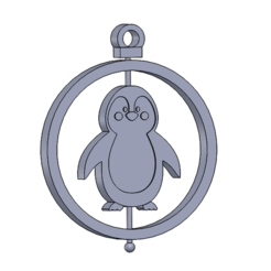 Esfera pinguino 2.0.PNG Download STL file Christmas Ornament: Penguin • 3D printer design, dangilmz93