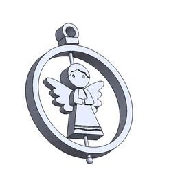 esfera angel.JPG Download STL file Christmas Ornament: Angel • 3D printing design, dangilmz93