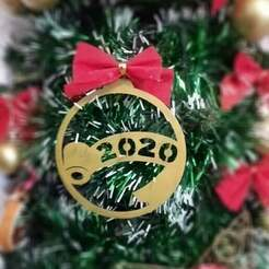 122234.jpg Download STL file TOILET PAPER 2020 CHRISTMAS TREE BALL ORNAMENT • Template to 3D print, TAKIS