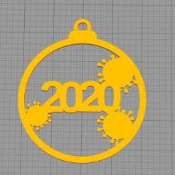 covid_32.png Download free STL file COVID CHRISTMAS TREE ORNAMENT • 3D printer template, TAKIS