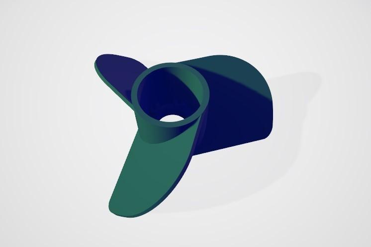 3.jpg Télécharger fichier STL gratuit Hélice marine à 3 volets • Modèle pour impression 3D, ErkanErk