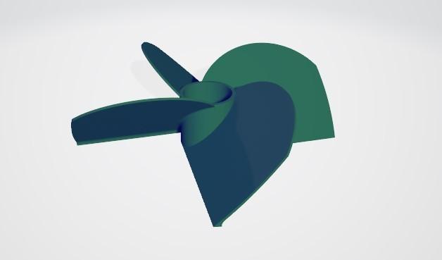 4big.jpg Télécharger fichier STL gratuit Hélice marine à 4 volets • Modèle pour imprimante 3D, ErkanErk
