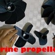 Download free STL file 4 flaps marine propeller • Object to 3D print, ErkanErk