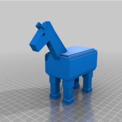 Download free STL file MineCraft Horse • Template to 3D print, ErkanErk