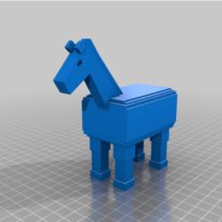 Télécharger plan imprimante 3D gatuit Cheval MineCraft, ErkanErk