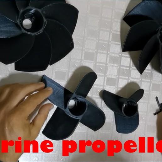 Marine Propellers.jpg Télécharger fichier STL gratuit Hélice marine à 3 volets • Modèle pour impression 3D, ErkanErk