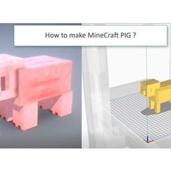 Télécharger fichier imprimante 3D gratuit MineCraft PIG, ErkanErk