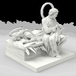 untitled.39.png Télécharger fichier STL gratuit Laissons maman se reposer. PESEBRE vaticano • Design à imprimer en 3D, mauroavila9106