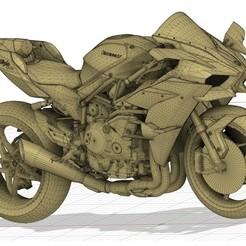 h2.jpg Download STL file Kawasaki Ninja H2 R • 3D printable design, peterstevpt